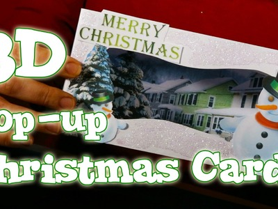 How to make a 3D Pop-up Christmas Card - Snowman Scene