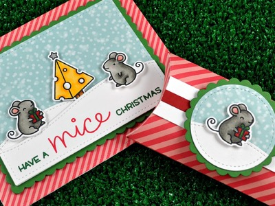 How to make a coordinating Christmas card and gift box
