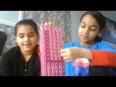 How to make a loom band, letter banner with a rainbow loom
