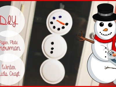 Kids DIY Snowman From Dollar Tree Paper Plates | Christmas Collab | Planning | #diyczokamas