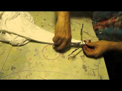 MAKING A TIE DYE STAR OR FLOWER USING HEMOSTATS , RAINBOW HIPPY TIE DYES
