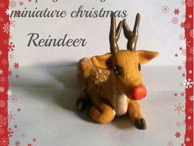 Miniature Christmas Reindeer-Polymer Clay Tutorial.DIY