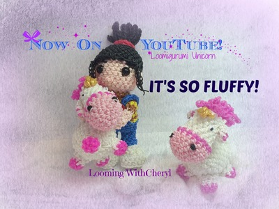 "Rainbow Loom Agnes Unicorn ""It's so FLUFFY"" Loomigurumi.Amigurumi Hook Only"