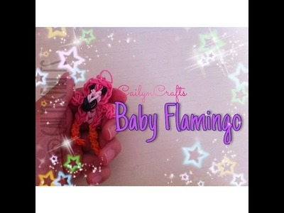 Rainbow Loom Baby Flamingo - How To - CailynCrafts