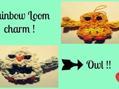 Rainbow loom OWL Part 1 [ wings]