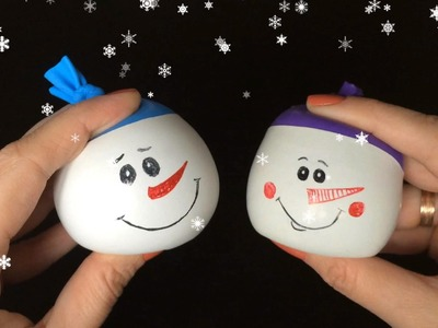 Snowman Ball Anti-stress DIY