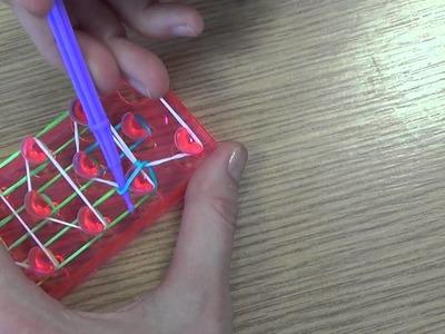 The Works Loom Bands   How to make a Single Triple Rainbow Loom Bracelet
