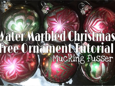 Water Marbled Christmas Tree Ornament Tutorial