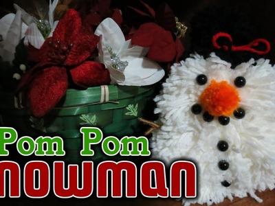 Yarn Pom-Pom Snowman DIY - Fun, Cute & Easy To Make
