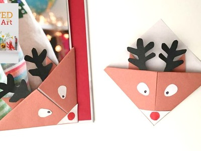 CHRISTMAS CRAFTS - Easy Reindeer Bookmarks for Christmas