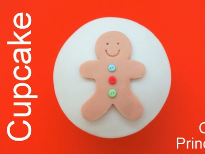 Christmas Cupcakes - How to Make Gingerbread Man Cupcake by Pink Cake Princess