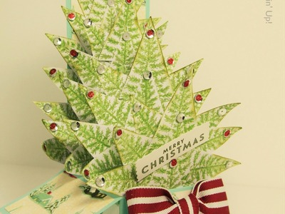 Christmas Tree Card In A Box Stampin Up UK - part 1