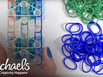 Comment faire un bracelet triple | Métier Rainbow Loom | Michaels