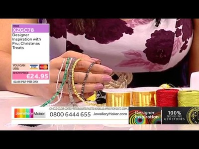 Designer Inspiration Christmas Show - Learn Kumihimo [Tutorial]: Jewellery Maker DI 25.09.14