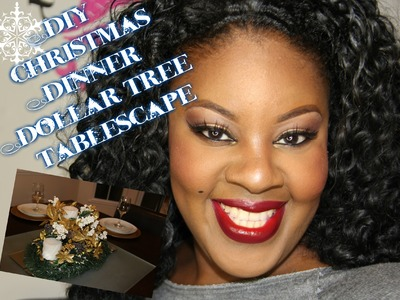 DIY Dollar Tree Christmas Holiday Tablescape | I Am TeeJaay #homedition