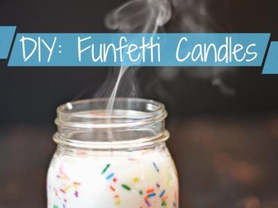 DIY: FUNFETTI CANDLES