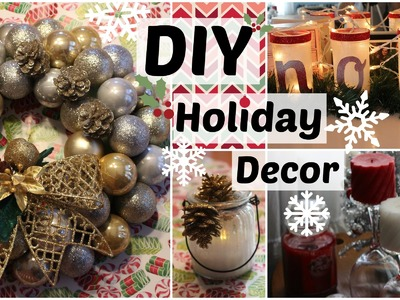DIY Holiday Decor Part 2! (DIY Christmas Decor Ideas, DIY Room Decor)