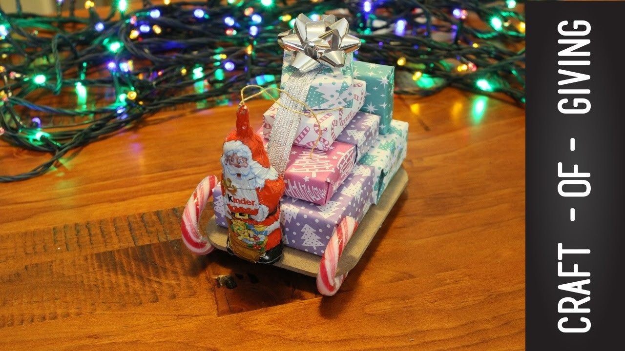 DIY Santa Sleigh with Gifts   Craft of Giving