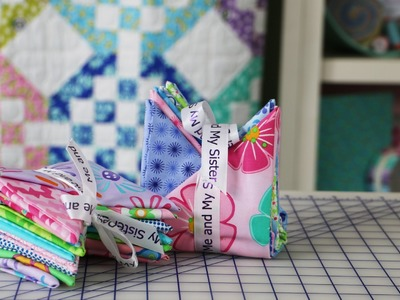 How to Fold Fat Quarters for Sewing Gifts and Sewing Studio Decoration by Me & My Sister Designs