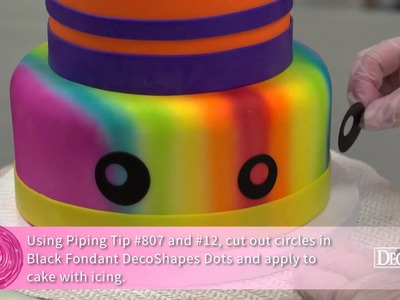 How-To Make a Rainbow Round Stacked Cake