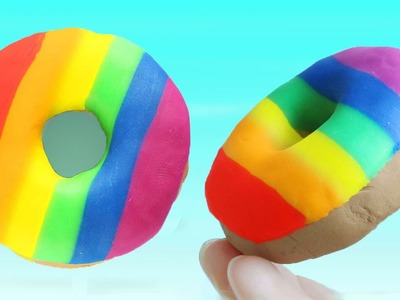 How to Make Play-Doh Rainbow Donut - dots & eggs