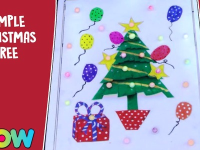 How To Make Simple Christmas Tree | Christmas Craft Ideas | Wow Juniors
