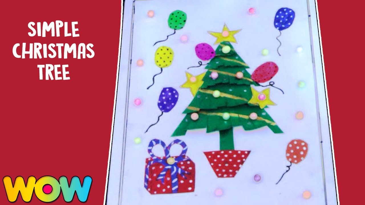 How To Make Simple Christmas Tree   Christmas Craft Ideas   Wow Juniors