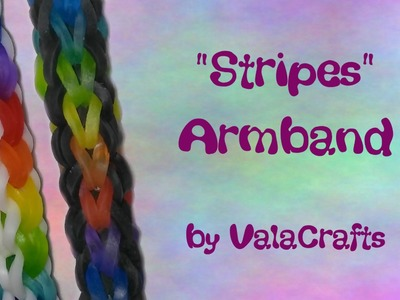 NEU Rainbow Loom Stripes Armband (Original Design)