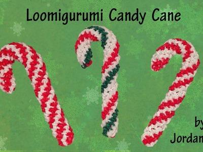 New 3D Loomigurumi. Amigurumi Candy Cane - Christmas - Quick & Easy - Rainbow Loom - Hook Only