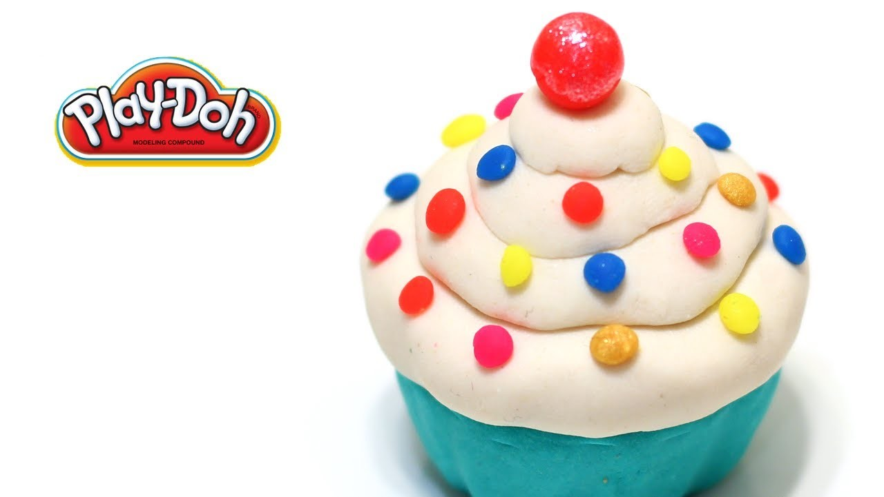 Play-Doh Cute Cupcake with Rainbow Sprinkle How to Make Cupcake Easy! Easy