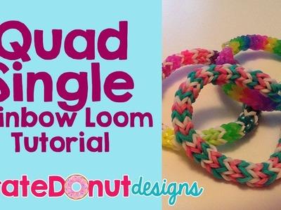 Quad Single Rainbow Loom Tutorial