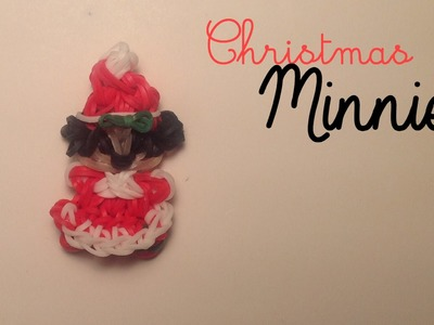 Rainbow Loom Minnie Mouse Charm | Mrs Claus | Tidbits Holiday