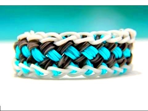 """Rainbow Loom Nederlands How to Make Bracelet (decoration) """"Chinese Finger Trap"""" from Rainbow Loom."""
