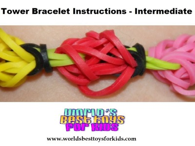 Rainbow Loom Rubber Band Refill - Tulip Tower Bracelet Instructions