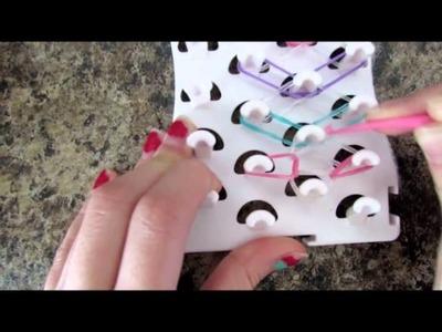 Rainbow Loomies - Diamond Bracelet Tutorial