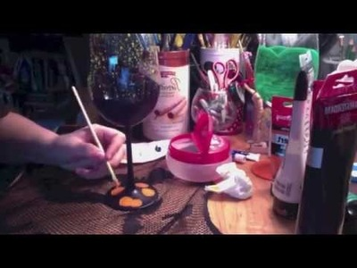 The Nightmare Before Christmas | Wine Glass Speed Paint