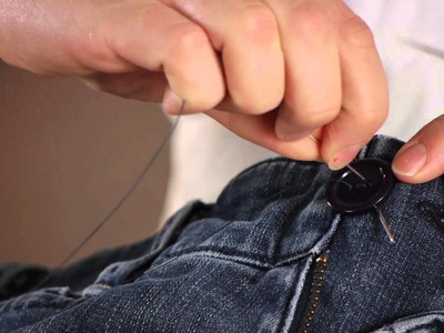 The Right Way to Sew a Button Onto Jeans : Buttons & Sewing Tips