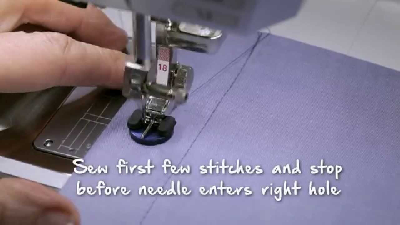 Tutorial on the BERNINA 720, 740 and 770 QE: Sewing buttonholes and sewing on buttons