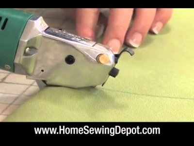 Using a Electric Rotary Cutter - Home Sewing Depot