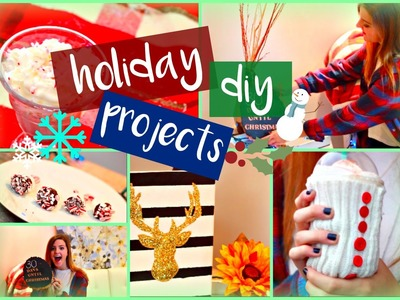5 Holiday Inspired DIY Projects You NEED To Try! Gift Ideas, Decor, + More!