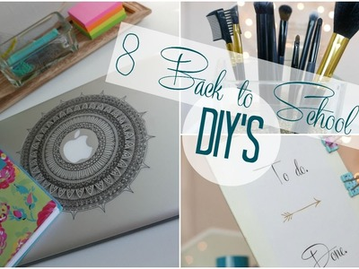 Back to School DIY's (Laptop sticker, Organizer, totes and more!)
