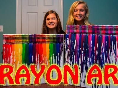 CRAYON MELTING ART! ~ DIY