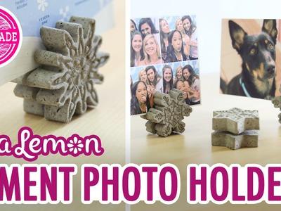 DIY Cement Photo Holders with Sea Lemon - HGTV Handmade