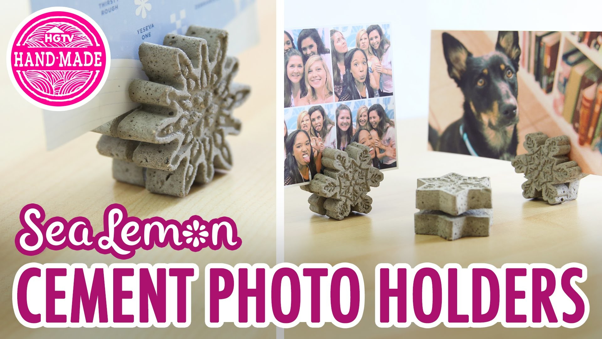 DIY Cement Photo Holders with Sea Lemon - HGTV Handmade