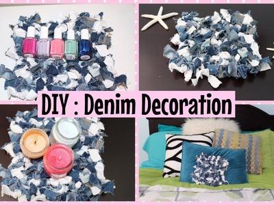DIY: Denim Room Decoration