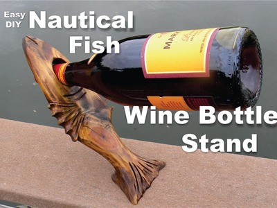 DIY Nautical Fish Wine Bottle Stand Easy How to make project