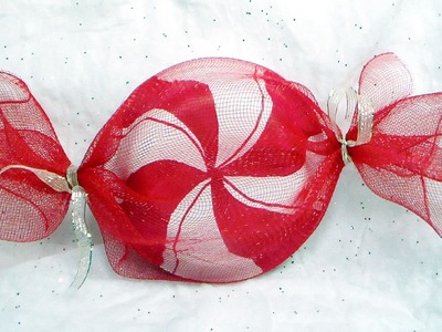 DIY Peppermint Candy Decorations and Party Favor Gift Wrap!