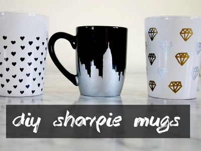 DIY Sharpie Mugs - Holiday Gift Ideas