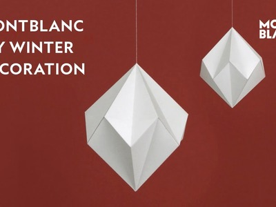 DIY Winter Paper Decoration: Snow Diamond Tutorial by Montblanc | Happy Holidays-London Winter Tale