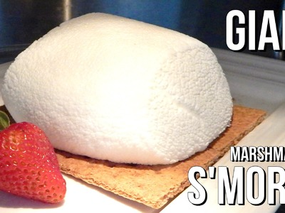 GIANT MARSHMALLOW S'MORES in a Microwave  - Father's Day Special - DIY, homemade - Inspire To Cook